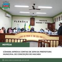 Câmara aprova contas de 2019 da Prefeitura Municipal