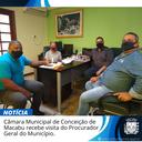 CÂMARA MUNICIPAL DE CONCEIÇÃO DE MACABU RECEBE VISITA DO PROCURADOR GERAL DO MUNICÍPIO .
