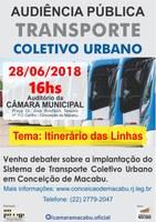 Câmara realiza nova audiência pública para debater serviço de transporte urbano na cidade