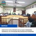 Executivo veta Projeto de Lei que considera atividades religiosas como serviço essencial, em Macabu