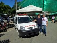 Vereador Sandro Daumas oficializa entrega de ambulância adquirida através de emenda parlamentar