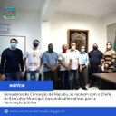 Vereadores de Conceição de Macabu, se reúnem com o Chefe do Executivo Municipal, buscando alternativas para a iluminação pública.