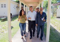 Vice-presidente da Câmara de Macabu e Deputado Estadual visitam Educandário Rego Barros